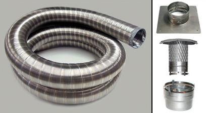 8 X25 39 316ti Ss Flexible Chimney Liner Fireplace Insert Kit Ebay