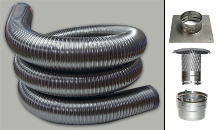 Flexible Smooth Wall 2 Ply Chimney Liner 6 X 30